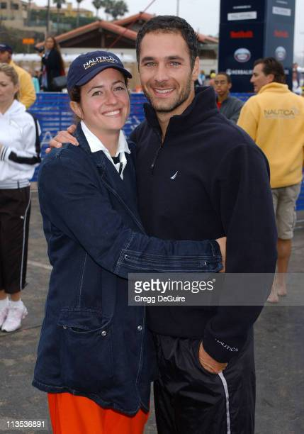 Raoul Bova and wife during 19th Annual Nautica Malibu Triathlon Arrivals at Zuma Beach in Malibu California United States