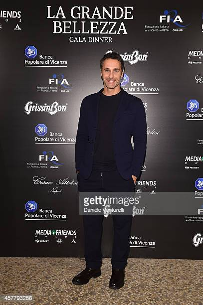 Raoul Bova attends the Gala Dinner 'La Grande Bellezza' during the 9th Rome Film Festival on October 24 2014 in Rome Italy