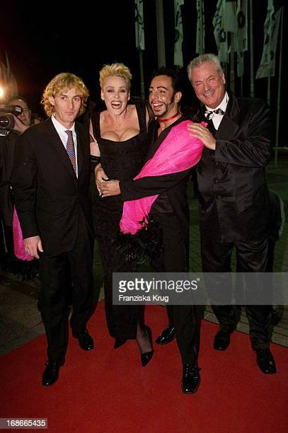 Raoul Meyer and Brigitte Nielsen Harald Gööckler and and Dieter Schroth Pompöös From The Ball Of Sports in Frankfurt Am 020202