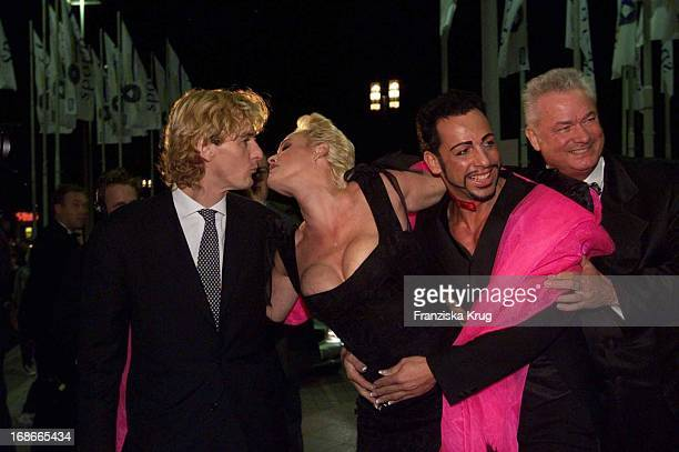 Raoul Meyer and Brigitte Nielsen Harald Glööckler and and Dieter Schroth Ball Of Sports In Frankfurt Am 020202