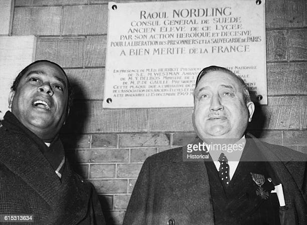 Raoul Nordling Swedish ConsulGeneral to Paris who saved that city from Hitler's ordered destruction by acting as von Choltitz's emissary to...