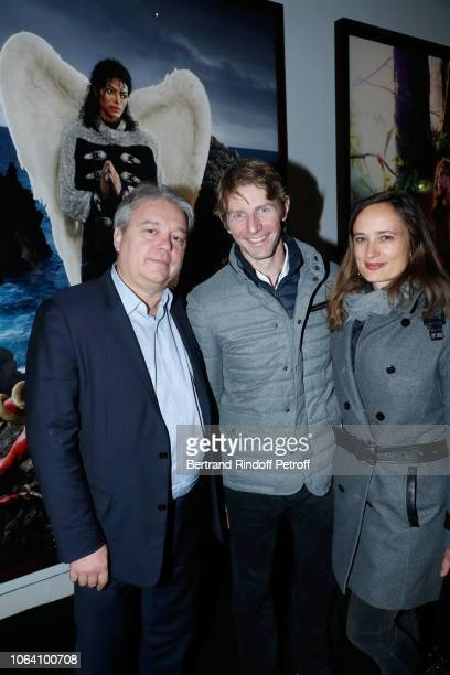 Raoul Salomon Star Dancer Karl Paquette and his wife Marion attend the Inauguration of the Exhibition Michael Jackson On The Wall at Grand Palais on...
