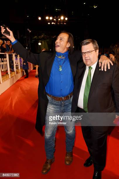 Raoul Trujillo and Denis Coderre attend the 'Hochelaga Terre des Ames' premiere during the 2017 Toronto International Film Festival at Roy Thomson...