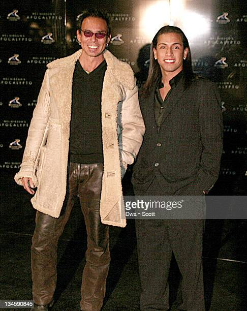 Raoul Trujillo and Rudy Youngblood during Apocalypto Oklahoma City Screening in Oklahoma City Oklahoma United States