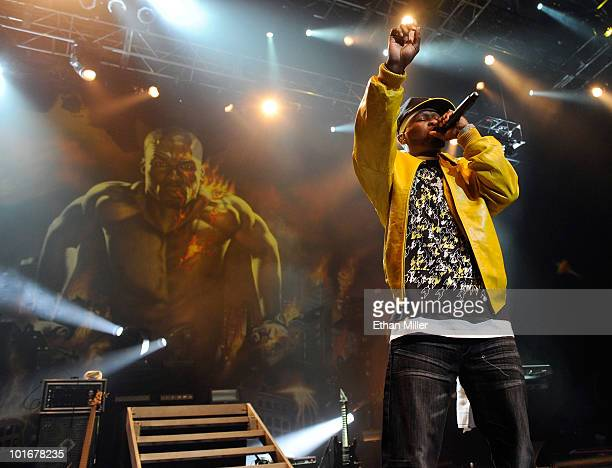 Rap artist 50 Cent performs at The Pearl concert theater at the Palms Casino Resort June 6, 2010 in Las Vegas, Nevada.