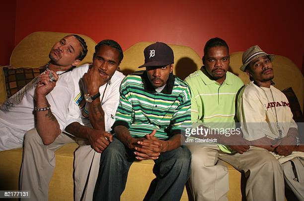Rap artist Bone Thugs N Harmony pose for their first portrait in 10 years in Woodland Hills California on July 20 2008