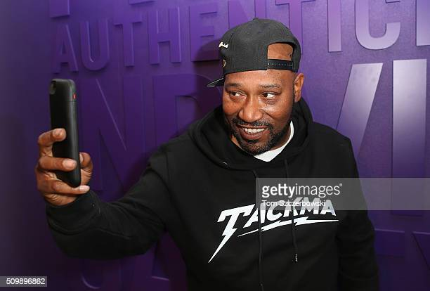 Rap artist Bun B poses for a selfie photo after performing at New Era Cap's Toronto flagship on February 12 2016 in Toronto Canada