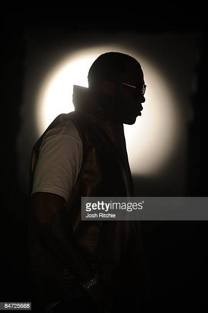 Rap Artist Flo Rida films the video for his new song Right Round at Propmasters inc studios on January 28 2009 in Hialeah Florida