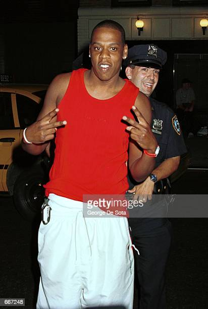 Rap artist JayZ attends New York Yankees shortstop Derek Jeter's 26th birthday party July 8 2000 at Club ONE51 in New York City