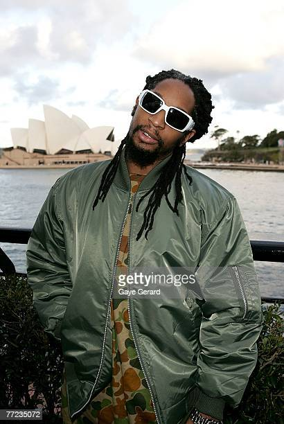 US rap artist Lil Jon visits the Rosemount Wine Bar on the first day of Rosemount Australian Fashion Week's Transeasonal 2008 Collections at the...