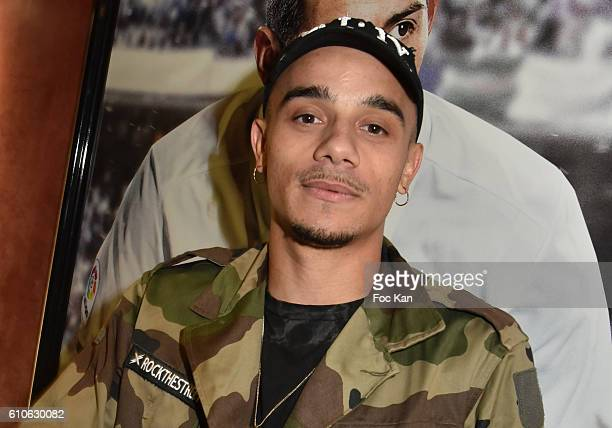 Rap artist Mister V attends FIFA Xperience at Cercle Cadet on September 26 2016 in Paris France