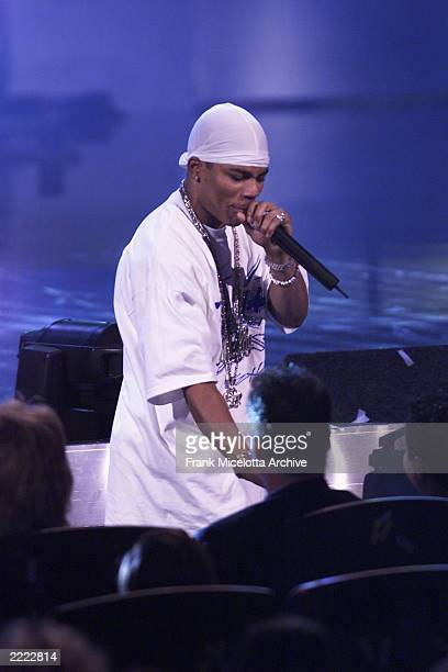Rap artist Nelly performs at the 2000 Radio Music Awards at the Aladdin Hotel in Las Vegas Nevada Saturday November 4 2000