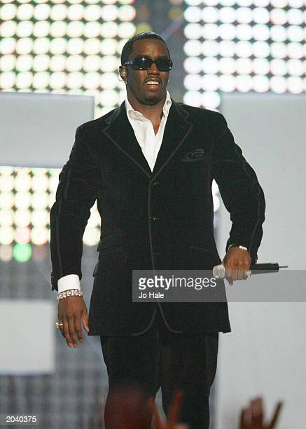 Rap artist P Diddy at the 2002 MTV Europe Music Awards at the Palau Sant Jordi in Barcelona Spain on November 14 2002 The star whose real name is...