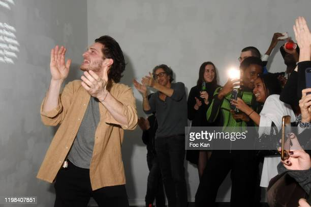 Rap artist singer Nelson Delapalme from Deform Scanband and guests attend «Deform Scan» Premiere Exhibition Preview at Galerie W Landeau on...