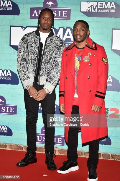 Rap Duo Krept and Konan attend the MTV EMAs 2017 at The SSE Arena Wembley on November 12 2017 in London England
