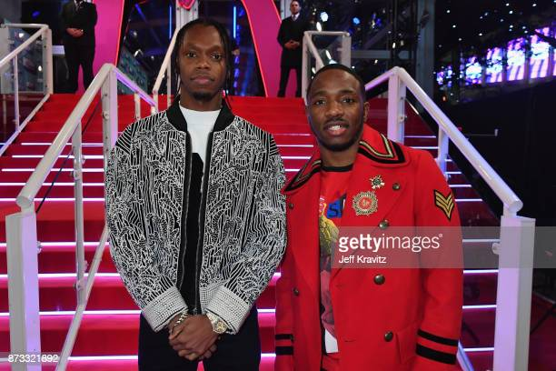 Rap Duo Krept and Konan attend the MTV EMAs 2017 held at The SSE Arena Wembley on November 12 2017 in London England
