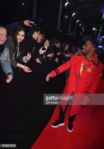 Rap Duo Krept of Krept and Konan attend the MTV EMAs 2017 held at The SSE Arena Wembley on November 12 2017 in London England