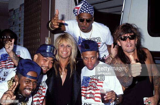 Rap Group 2 Live and Rock Group Motley Crue at the 1990 MTV Video Music Awards at in Los Angeles California