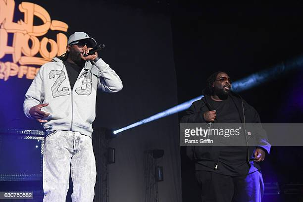 Rap Group 8Ball MJG perform onstage at 2016 Old School Hip Hop New Year's Eve Festival at Philips Arena on December 31 2016 in Atlanta Georgia