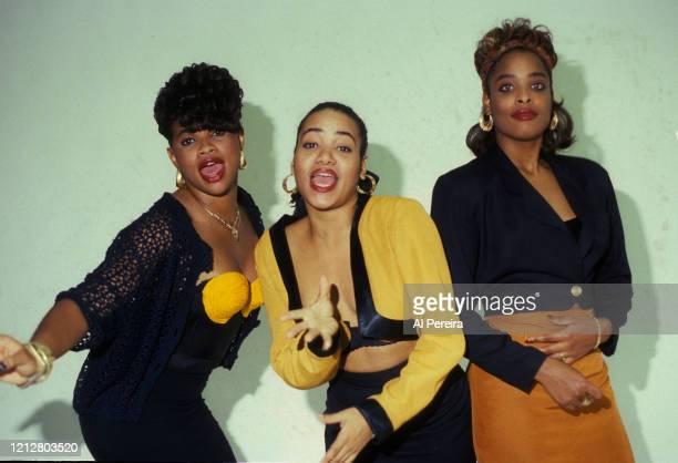 Rap group Salt 'N Pepa appear in a portrait taken in New York City on September 2, 1990. .