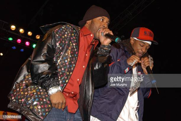 Rap Group, St. Lunatics perform during Club NBA at Jam Session as part of 2004 NBA All Star Weekend on February 13, 2004 in Los Angeles, California....