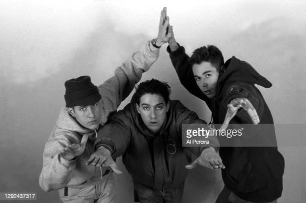 Rap group The Beastie Boys appears in a portrait take on February 21, 1992 in New York City.