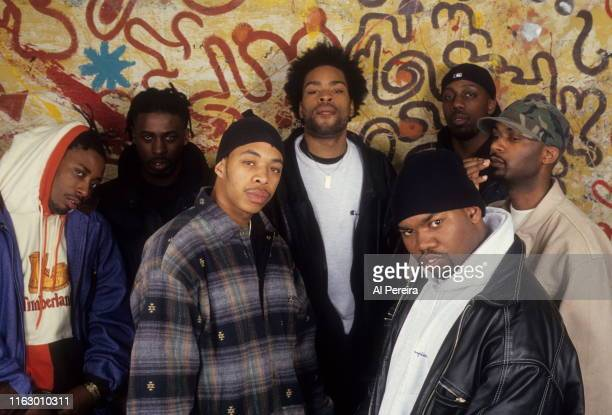 Rap Group The WuTang Clan pose for a portrait on April 1 1994 in New York City New York