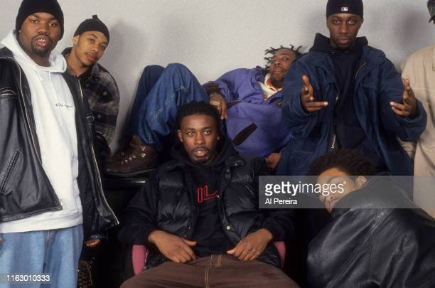 Rap Group The WuTang Clan pose for a portrait on April 1 1994 in New York City New York l to r Ol' Dirty Bastard Raekwon UGod Method ManGZAInspectah...