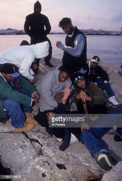 Rap group WuTang Clan poses for a portrait on May 8 1993 on Staten Island in New York City New York