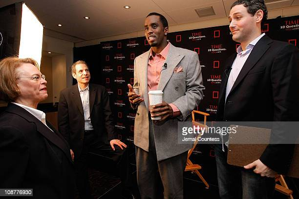 "Rap mogul Sean ""Diddy"" Combs speaks with Ann Moore, Chairman and CEO of TIME, Richard Stengel, Managing Editor of TIME, and Josh Tyrangiel, Managing..."