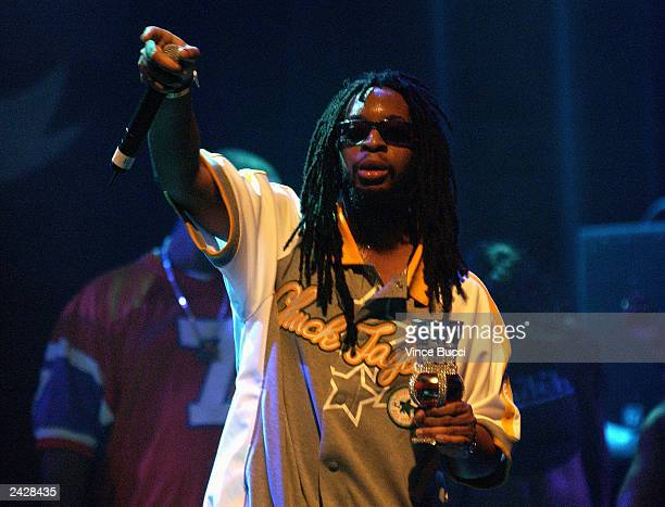 Rap musician Lil Jon and the East Side Boyz perform during the MTV Video Music Awards Sideshow at the House of Blues on August 25 2003 in Los Angeles...