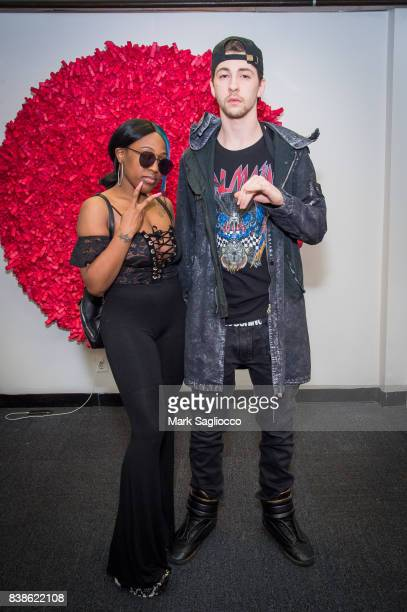 Rap performer Brittney Taylor and Dex Lauper attend the Contemporary Figurative Expressionist Artist's Fernando Garcia Debut Reception at 326 Gallery...