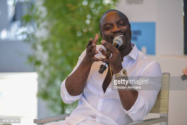 Rap singer and producer Akon attends the Cannes Lions Festival 2018 on June 19 2018 in Cannes France