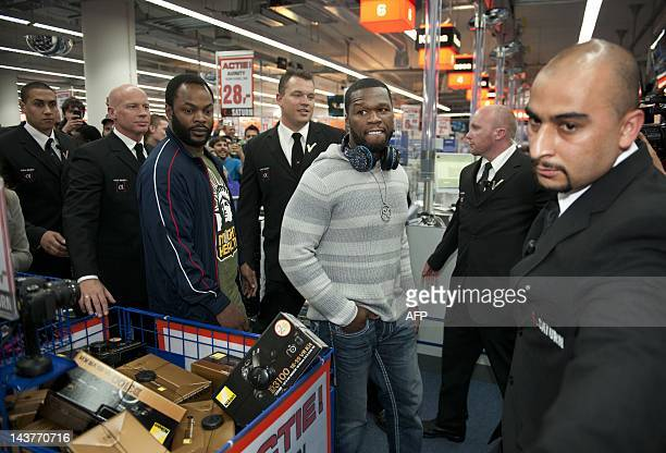 US rap star 50 Cent attend the opening of the Saturn electronics' superstore in Amsterdam on May 3 2012 AFP PHOTO / ANP / KIPPA ROBERT VOS
