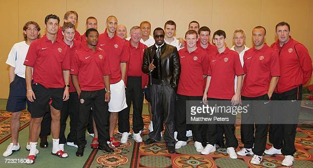 Rap star and Manchester United fan Sean 'P Diddy' Combs takes time out ahead of his appearance at the MTV European Music Awards to meet the...