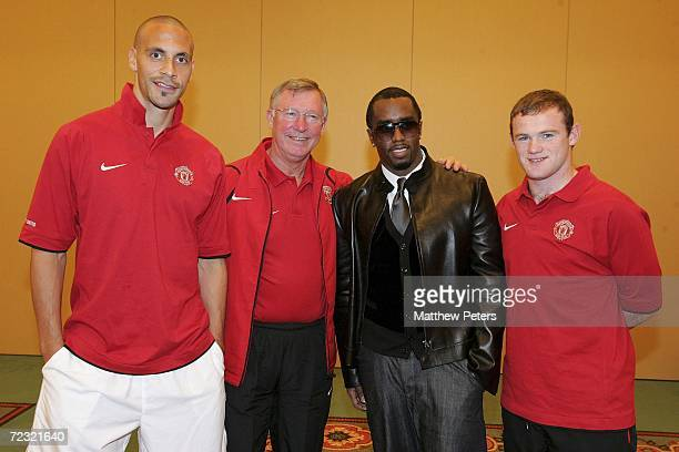 Rap star and Manchester United fan Sean P Diddy Combs takes time out ahead of his appearance at the MTV European Music Awards to meet the Manchester...