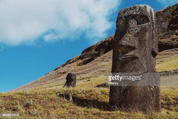 Rapa Nui Paaseiland Rano Raraku Moai beelden Chili