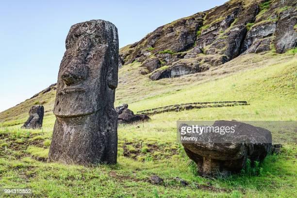 Rapa Nui Rano Raraku Moai beelden Paaseiland Isla de Pascua