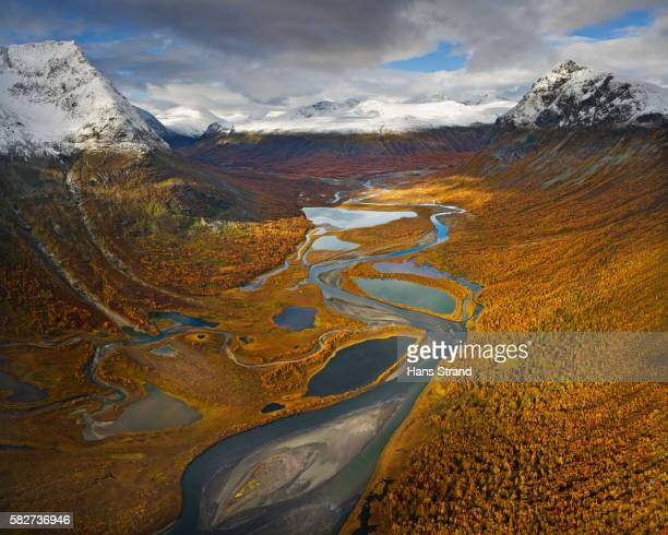 Rapa Valley in Fall in Sweden's Sarek National Park