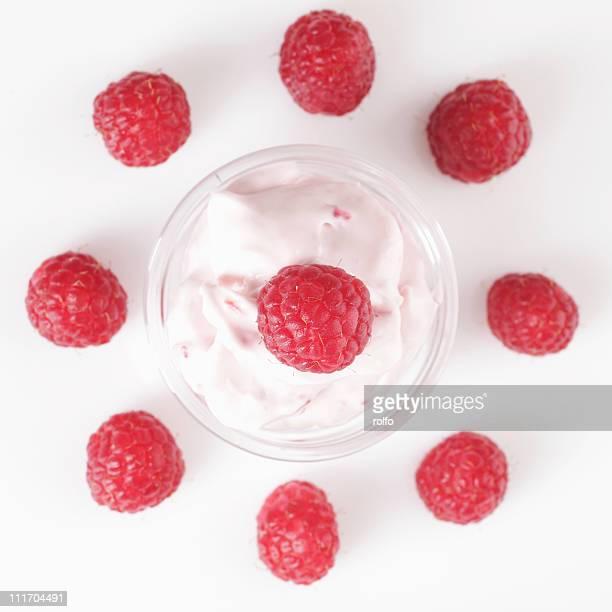 Rapberries dessert