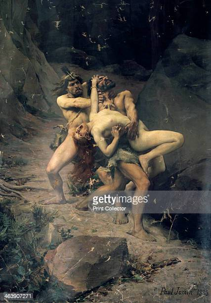 'A Rape in the Stone Age' 1888 From the Musee des BeauxArts Reims France