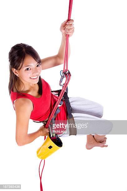 Rapelling Climber