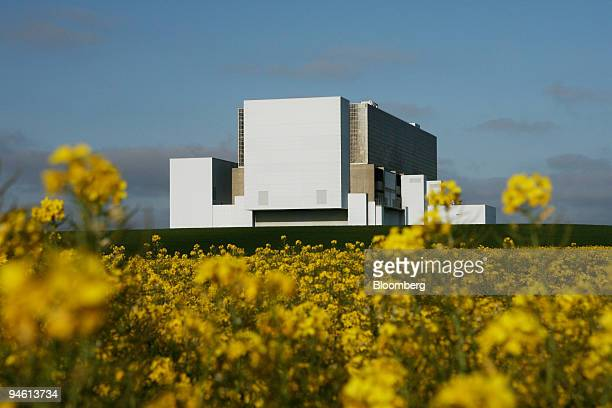 Rapeseed also known as canola blooms outside British Energy's Torness Power Station Friday May 4 near Dunbar UK Suez SA seeking to combine with Gaz...