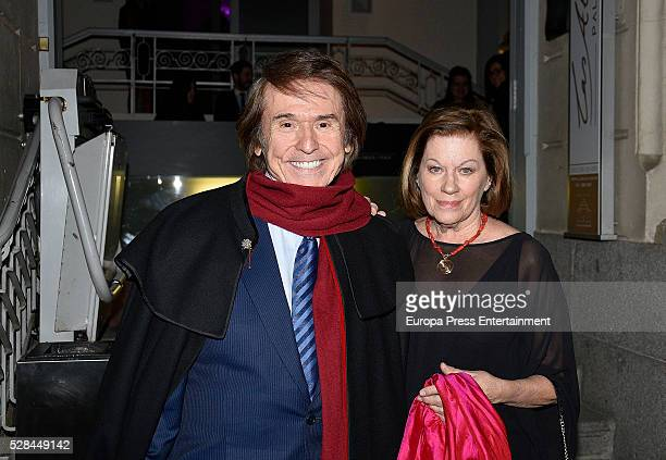 Raphael and Natalia Figueroa attend the party to commemorate the 50th anniversary of Rosa Oriol as Tous designer on March 16 2016 in Madrid Spain