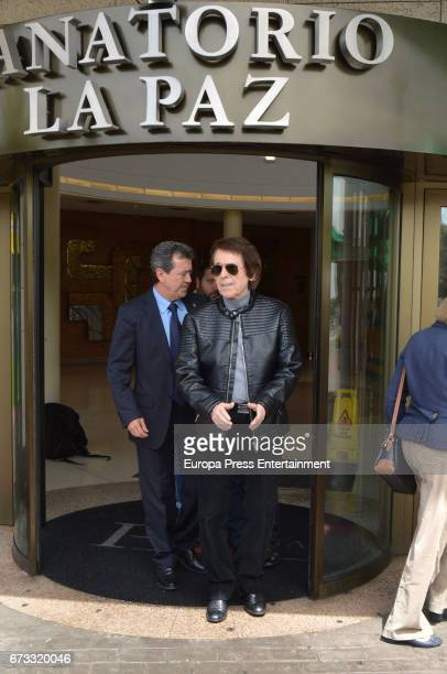 Raphael attends the funeral chapel for the bullfighter Sebastian Palomo Linares on April 25 2017 in Madrid Spain