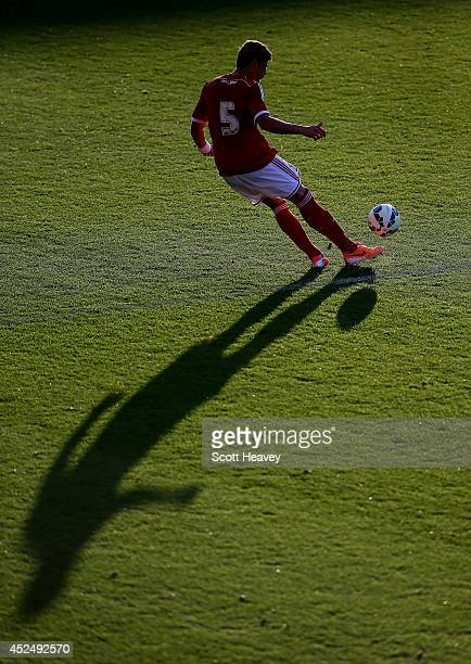 Raphael Branco of Swindon during the Pre Season Friendly between Swindon Town and Southampton on July 21 2014 in Swindon England