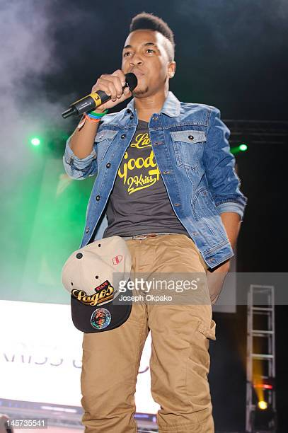 Raphael Christopher of 2Kriss performs during the Wizkid 'Starboy Tour' at Hammersmith Apollo on June 4 2012 in London England