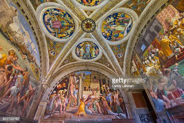 raphael frescoes in the vatican museums of vatican city, rome - high renaissance stock pictures, royalty-free photos & images