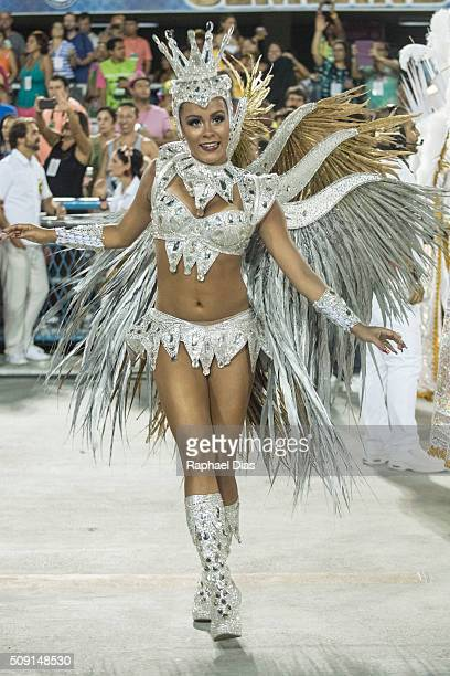 Raphael Gomes attends to the Rio Carnival in Sambodromo on February 8 2016 in Rio de Janeiro Brazil Despite the Zika virus epidemic thousands of...