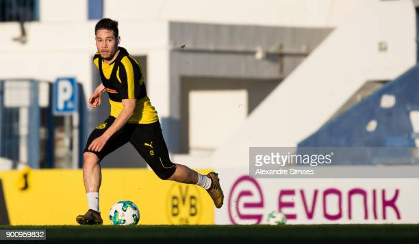 Raphael Guerreiro of Borussia Dortmund during the first day of the training camp in Marbella on January 3 2018 in Marbella Spain